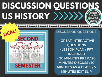 US History Discussion questions for all of Second Semester