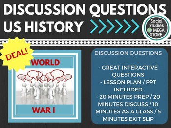 Discussion Questions World War I US History