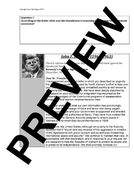 US History Document Based Questions Activity: Presidents and the Vietnam War