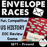 US History EOC Review Game:  Envelope Races Great for STAAR Review!