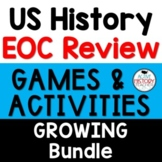 US History EOC Review Games  GROWING BUNDLE  Great for STA