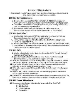 us history eoc review part 3 by amanda k jackson tpt rh teacherspayteachers com Us History Chapter 24 Study Guide Us History Exam Study Guide