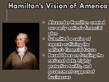 Early Republic Hamilton's Economic Plan PowerPoint (U.S. History)