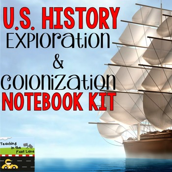 Explorers and Colonization U.S. History Notebook Kit