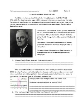 US History: FDR and the New Deal