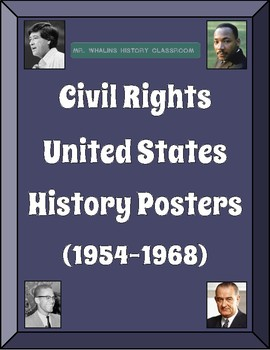 US History Figures Posters: Civil Rights