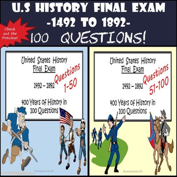 U.S History Final Exam: Columbus through Reconstruction - 100 Questions!