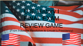US History Final Exam Review