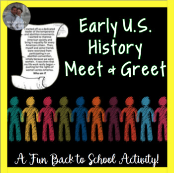 U.S. History Find Someone Who First Day, Review or End of Year Activity CCSS!