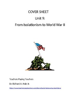 US History: From Isolation to World War 2 Common Core Unit Guide
