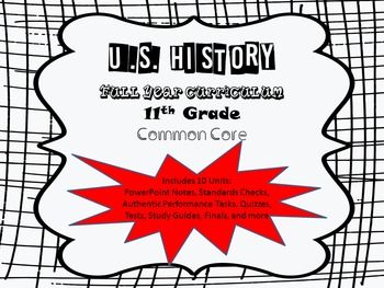 US History-Full Year Curriculum 11th Grade