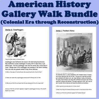American History Gallery Walk/Station Bundle (US History)