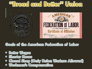 Growth of Labor Unions PowerPoint (Gilded Age / Imperialism) U.S. History