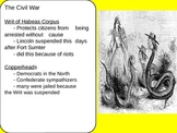 US History Goal 3 Day 5 Civil War Social Issues