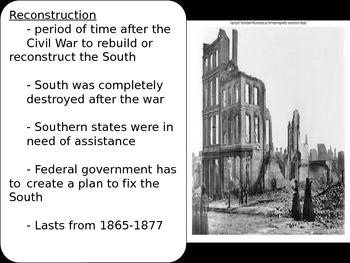 US History Goal 3 Day 6 Reconstruction Polictics