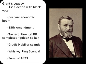 US History Goal 3 Day 7  Post Civil War Presidential Politics Reconcstruction