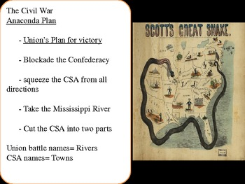 US History Goal 3 day 4 The Civil War and its Turing Points