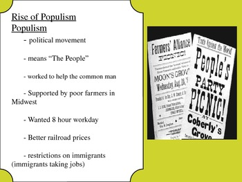 US History Goal 4 day 3- Bimetallism and the rise of Populism
