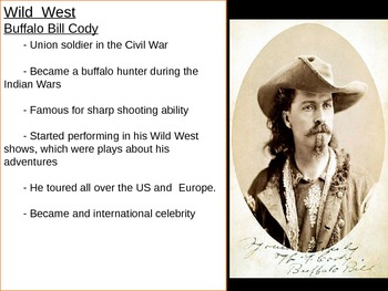US History Goal 4 day 4- The Wild West