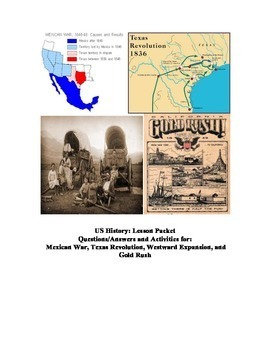 US History: Gold Rush and More!