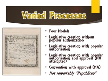 Earliest Constitutions PowerPoint Presentation (U.S. History / Government)