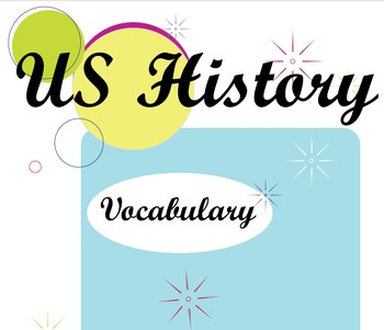 US History & Government Vocabulary Packet
