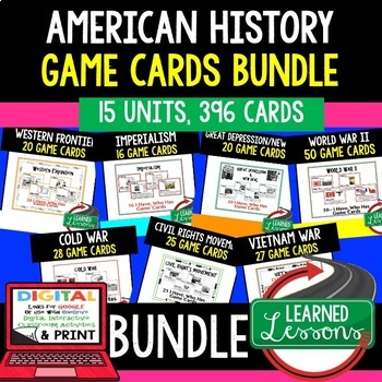 US History Great Depression New Deal Game Cards (20 I Have Who Has Cards)