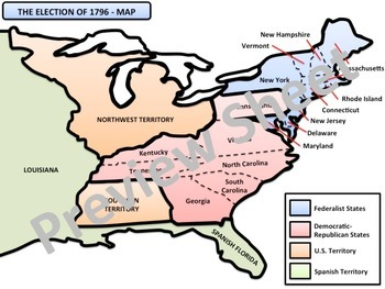 U.S. History - Growth & Setbacks - The Election of 1796