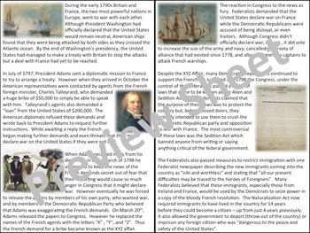 U.S. History - Growth & Setbacks - The XYZ Affair
