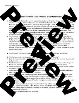 US History High School: Articles of Confederation
