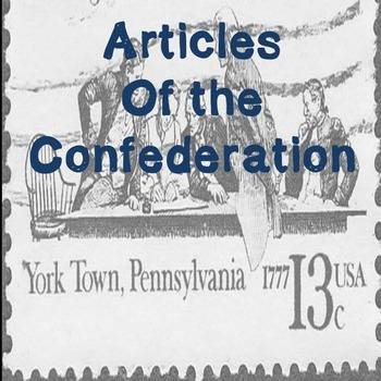 US History High School: Articles of Confederation