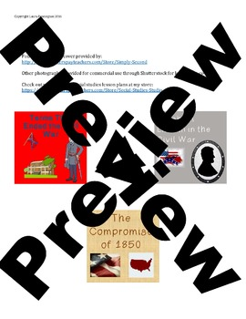 US History High School: Causes of the Civil War (Webquest)