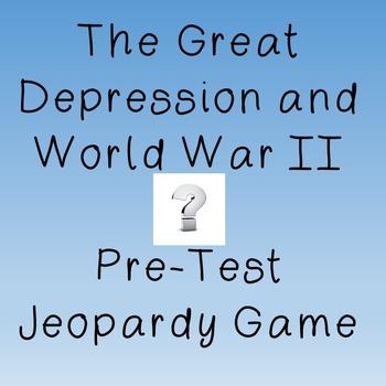 US History High School: Jeopardy Game, 1920's-1940's Recap