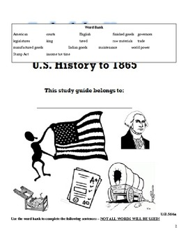 US History I SOL Review