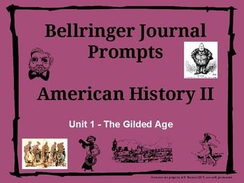US History II Bellringer Journal Prompts - Unit 1