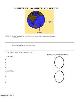 US History II:  Geography (VA SOLs) - Latitude/Longitude/Regions/Cities/States