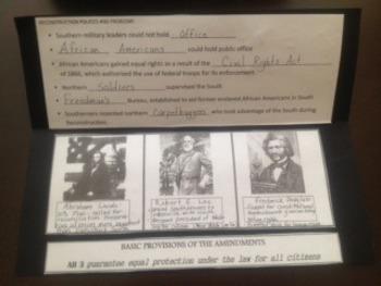 US History II:  Reconstruction Foldable