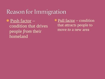 US History Immigration Overview Notes