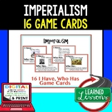 Imperialism Game Cards, Test Prep, Print & Digital Distance Learning