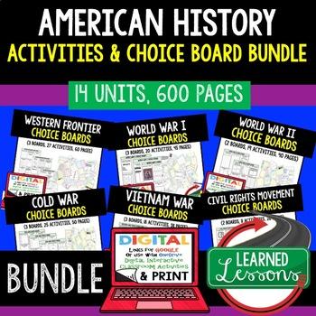 US History Imperialism Activities, Choice Board, Print & Digital, Google