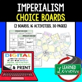 US History Imperialism Activities, Choice Board, Print & Digital, Google