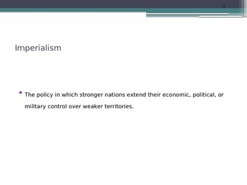 US History: Imperialism Power Point Presentation