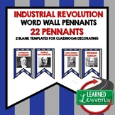 US History Industrial Age Word Wall Pennants