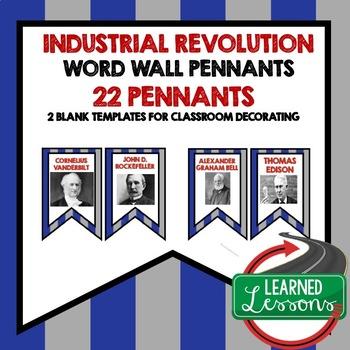 US History Industrial Age Word Wall Pennants