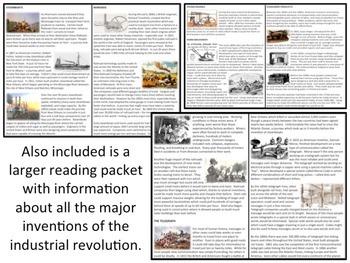 U.S. History - Industrial Revolution New Inventions - Homework