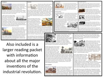 Industrial Revolution New Inventions - Homework