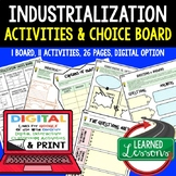 Industrialization Activities, Choice Board, Print & Digital, Google
