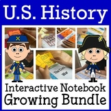 US History Interactive Notebook Endless Growing Bundle with Scaffolded Notes