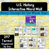 US History Interactive Timeline and Word Wall For the Enti