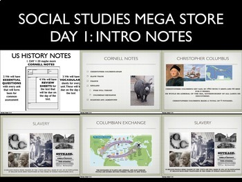US History Day 1 Notes PowerPoint Slideshow